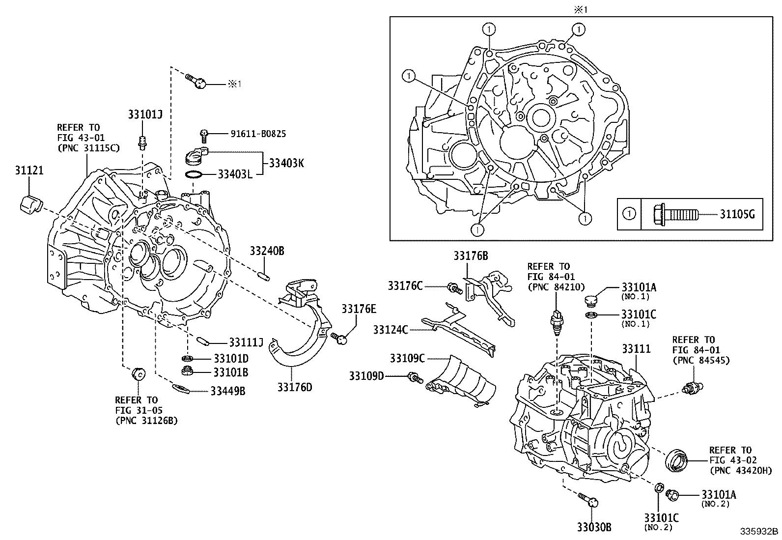 Toyota Corolla Exhaust System Hanger Bolt. Bolt (For