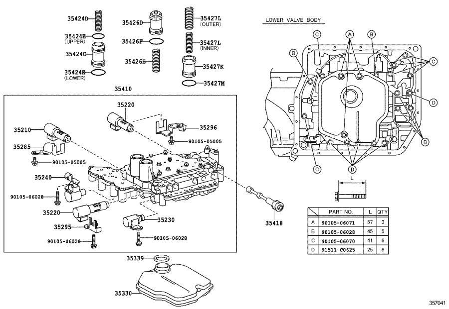 Toyota RAV4 Automatic Transmission Control Solenoid