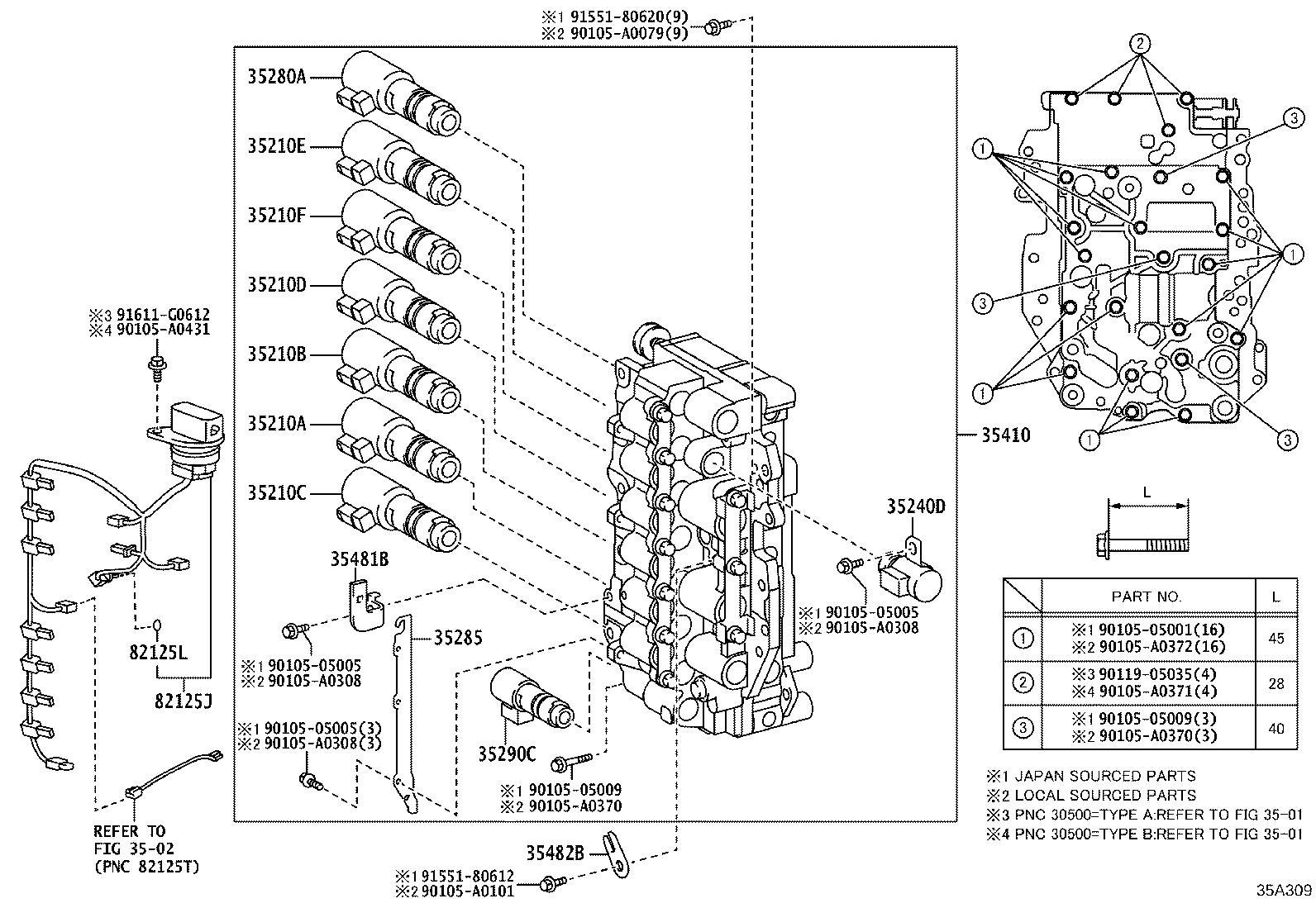 Toyota RAV4 Automatic Transmission Control Solenoid. AISIN
