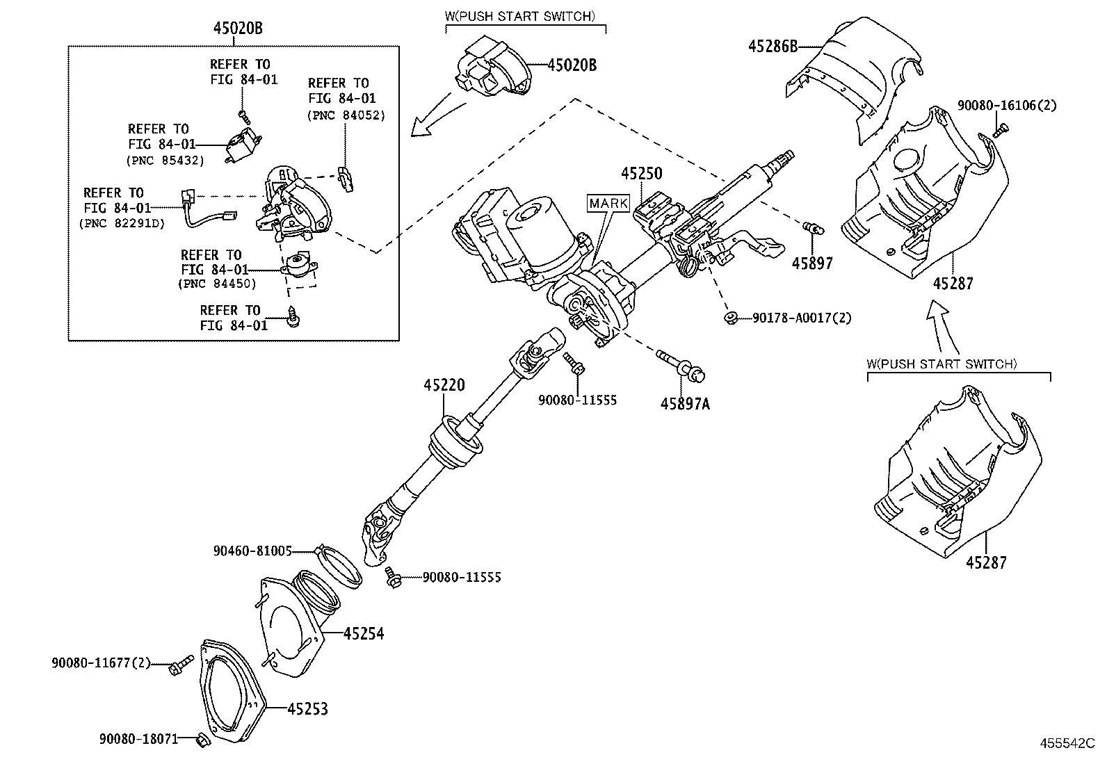 Toyota Sienna Steering Column Cover Upper