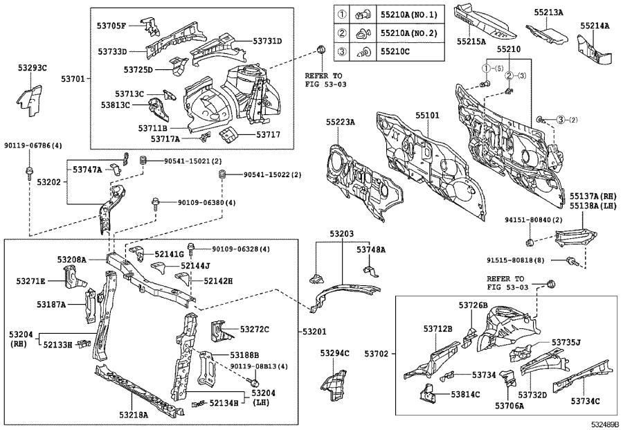 Scion XB Radiator Support Air Deflector (Right). Interior