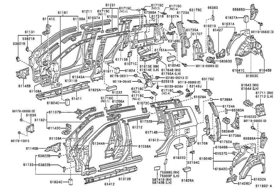 Toyota Highlander Body B-Pillar Reinforcement (Right