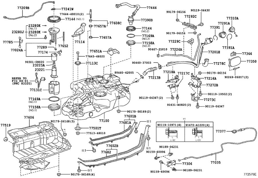 Toyota Highlander Fuel Pump Wiring Harness. TANK, TUBE