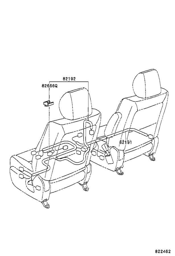 Toyota Highlander Wire, engine room main. Clamp, floor
