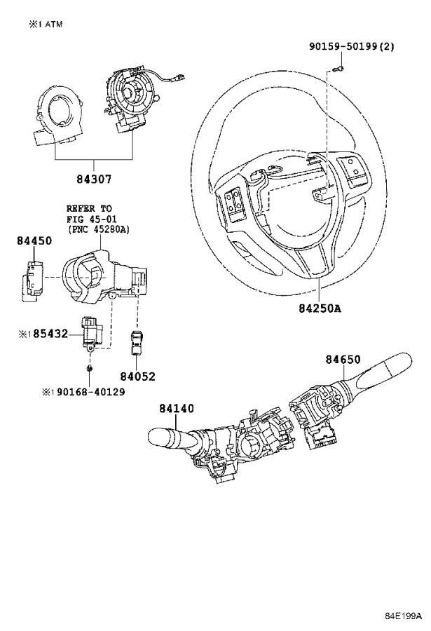 Toyota Yaris Windshield Wiper Switch. ENGINE, ROOM, DOOR