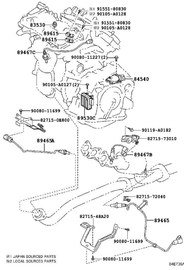 Toyota Highlander Steering Wheel Radio Controls. SILVER