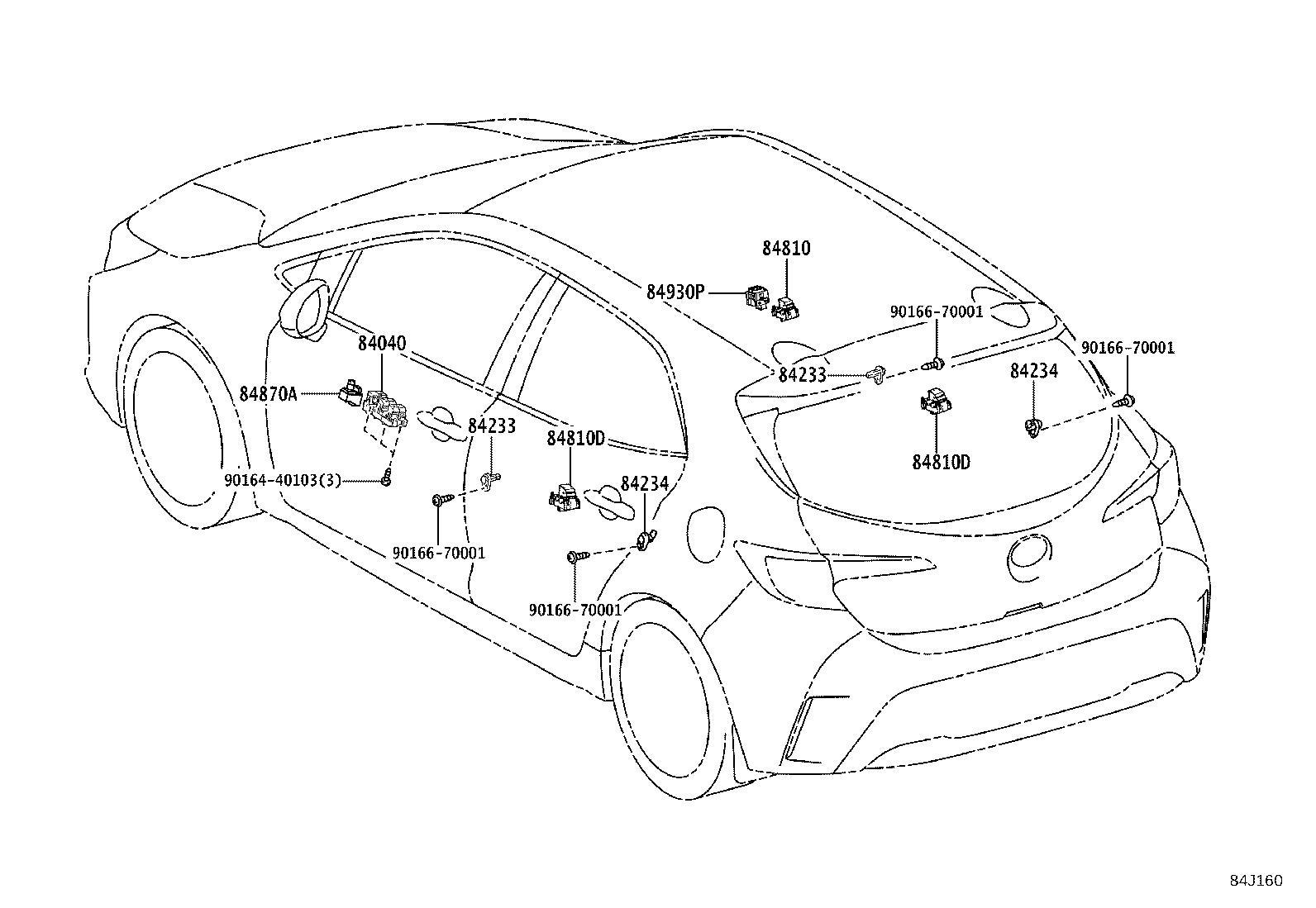 Toyota Corolla Hatchback Steering Wheel Position Sensor