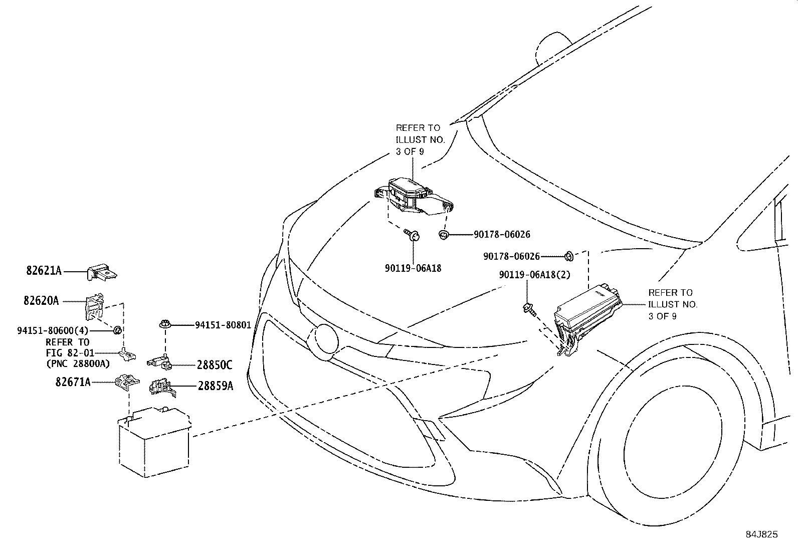 Toyota Corolla Bracket. Sensor, no. 2; wiring harness
