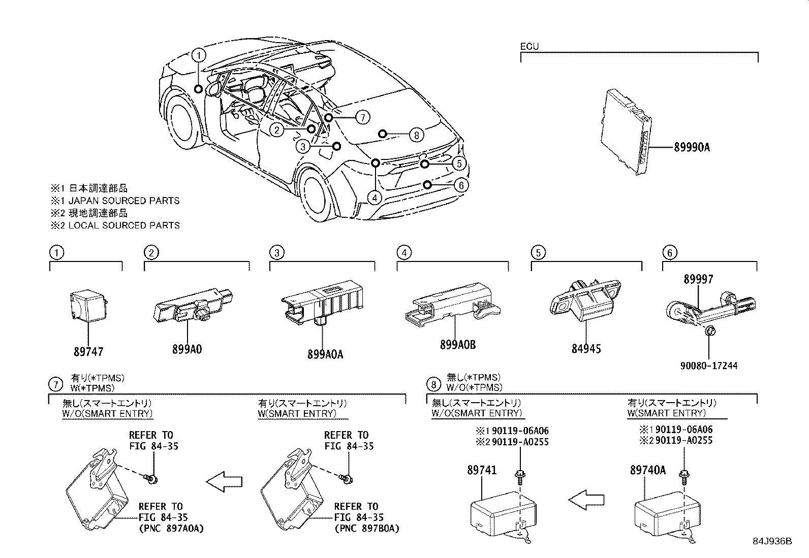 Toyota Corolla Anti-Theft Alarm Control Unit. Computer