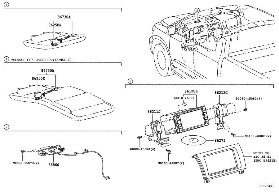 Toyota Tundra Receiver assembly, radio & display. Audio