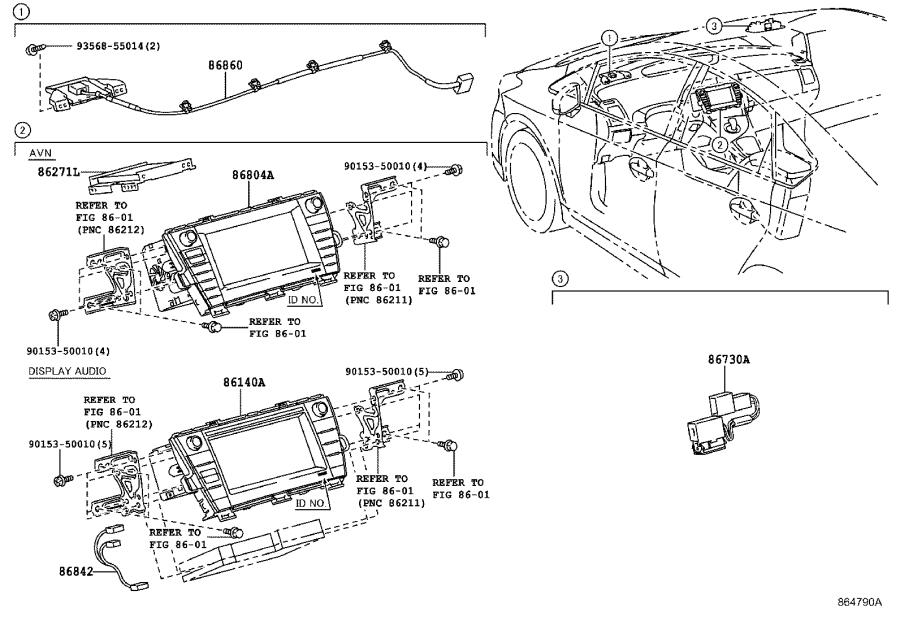 Toyota Prius Radio Control Unit. Navigation, Display