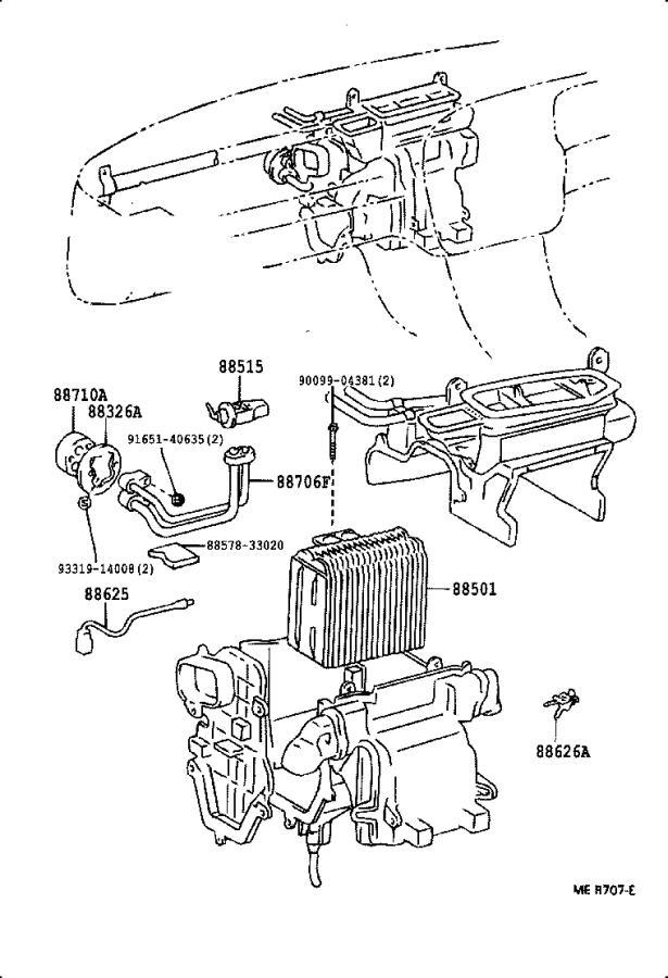 Toyota Camry A/c evaporator temperature sensor clip