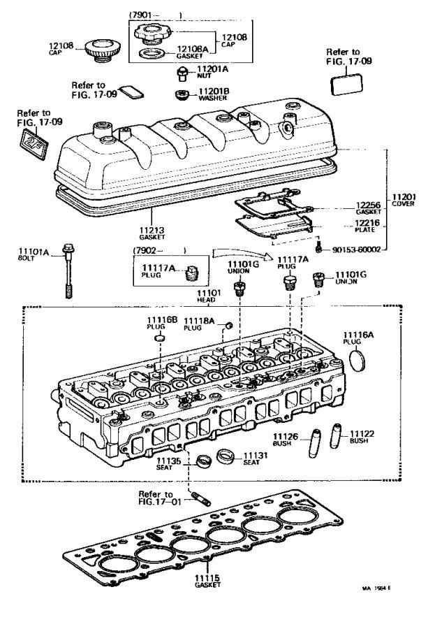 Toyota Land Cruiser Gasket, cylinder head. Engine