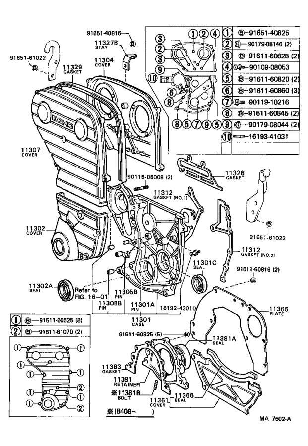 Toyota Celica Engine Crankshaft Sealing Flange Gasket