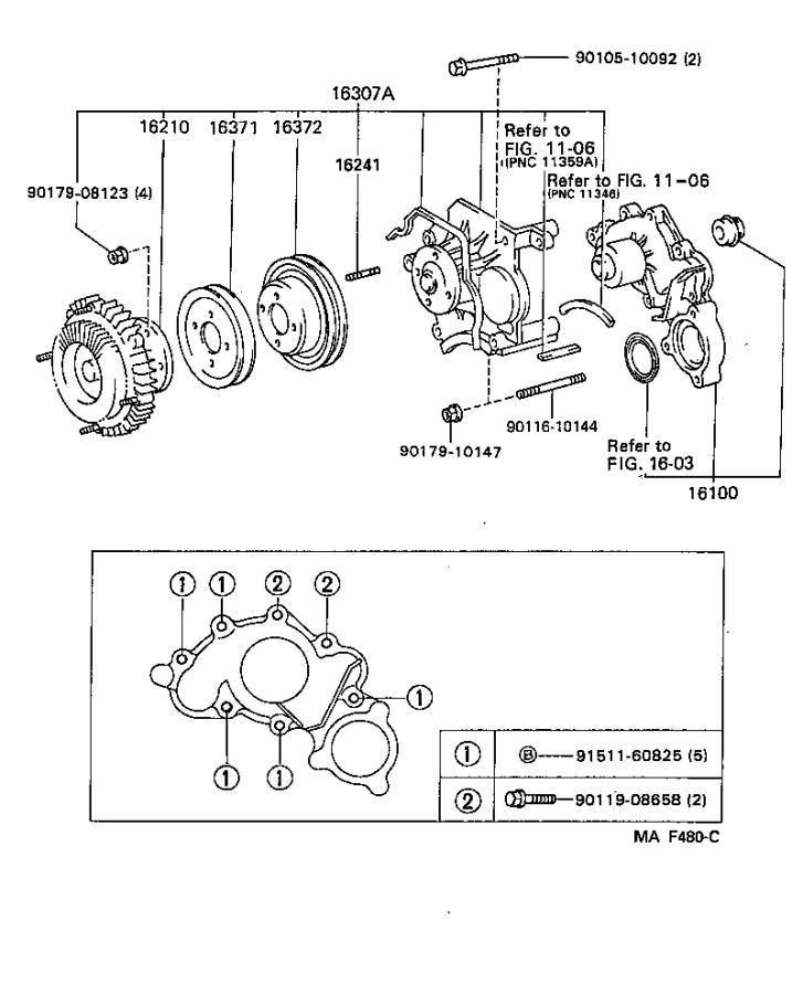 Toyota 4Runner Engine Cooling Fan Clutch. Coupling, Fluid