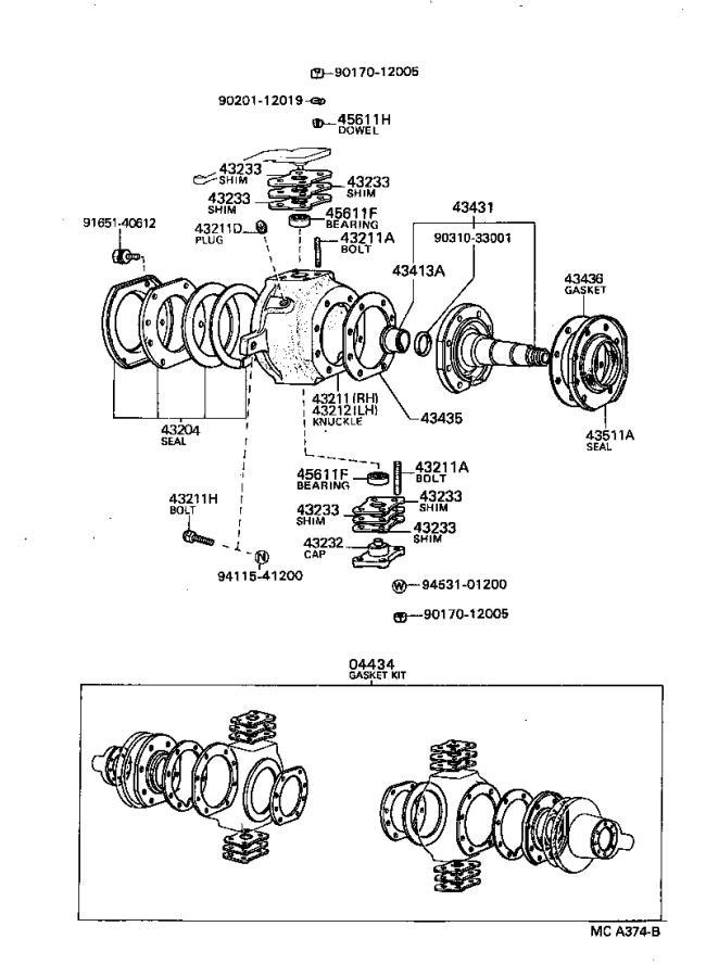 Toyota 4Runner Suspension Control Arm Bushing (Left, Right