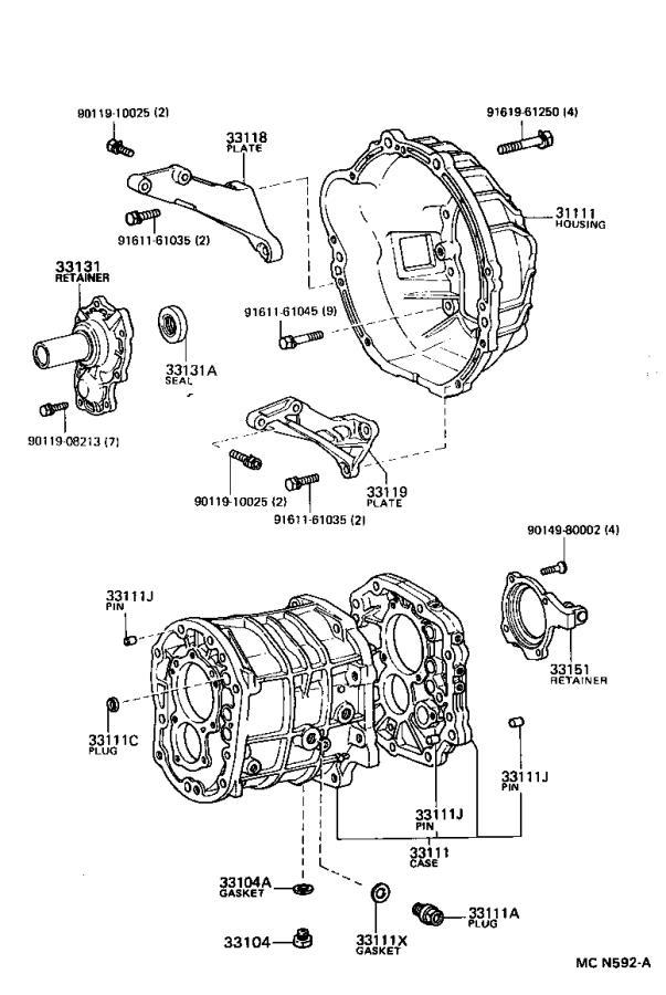Toyota 4Runner Manual Transmission Input Shaft Seal (Front