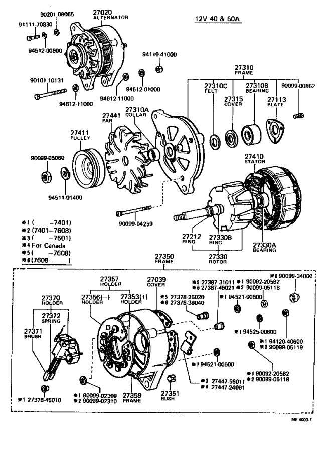 Toyota Land Cruiser Stator assembly, alternator
