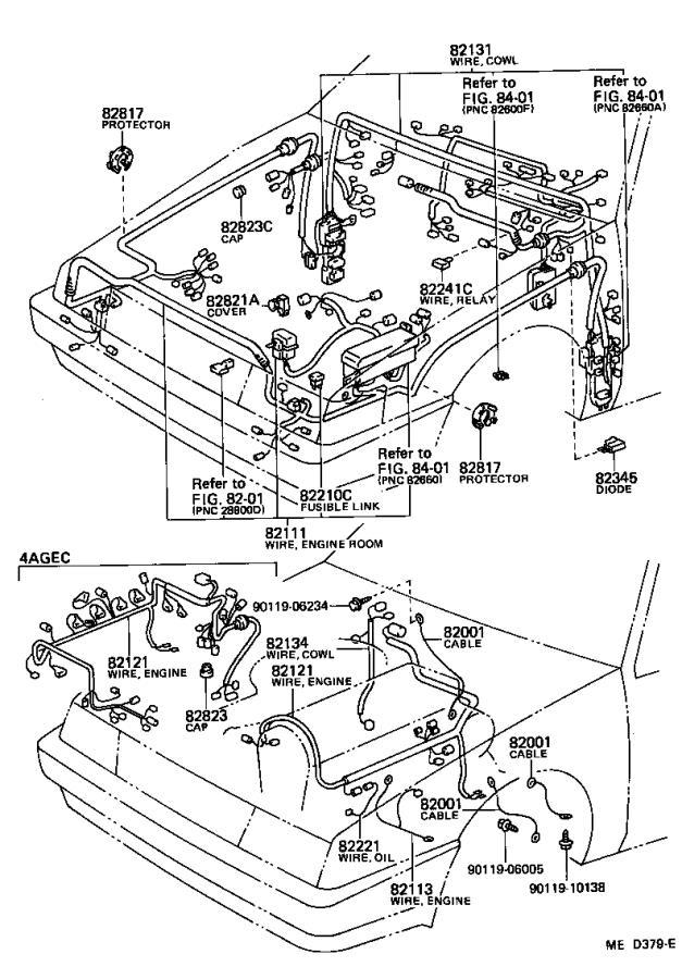 Toyota Corolla Wire, headlamp repair. Electrical, wiring
