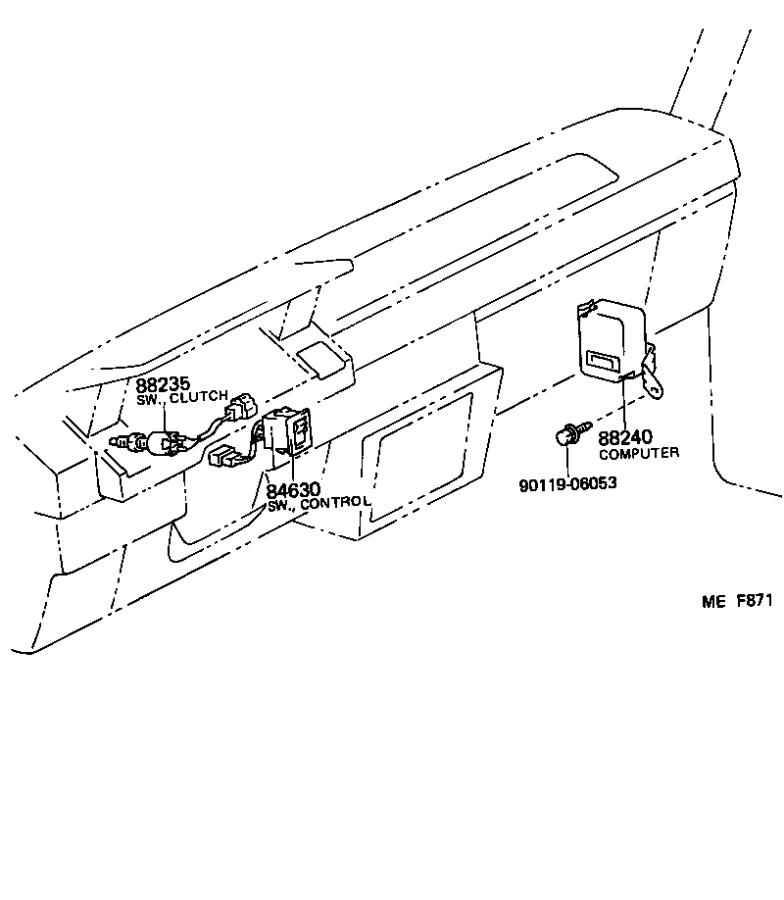 Toyota Corolla Evaporative Emissions System Lines (Front