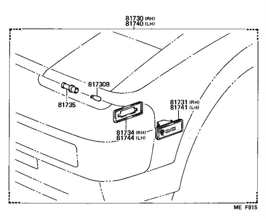 Toyota MR2 Socket & wire; socket and wire; socket plug