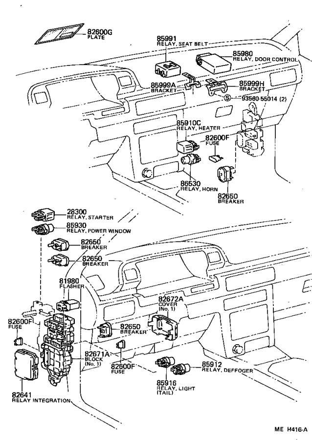 Toyota Camry Sensor, lamp failure indicator. Electrical