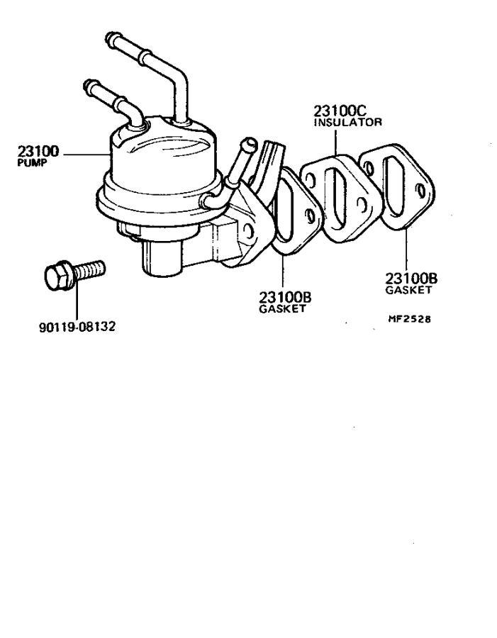 Toyota Land Cruiser Insulator, fuel pump. Cnd, system, std