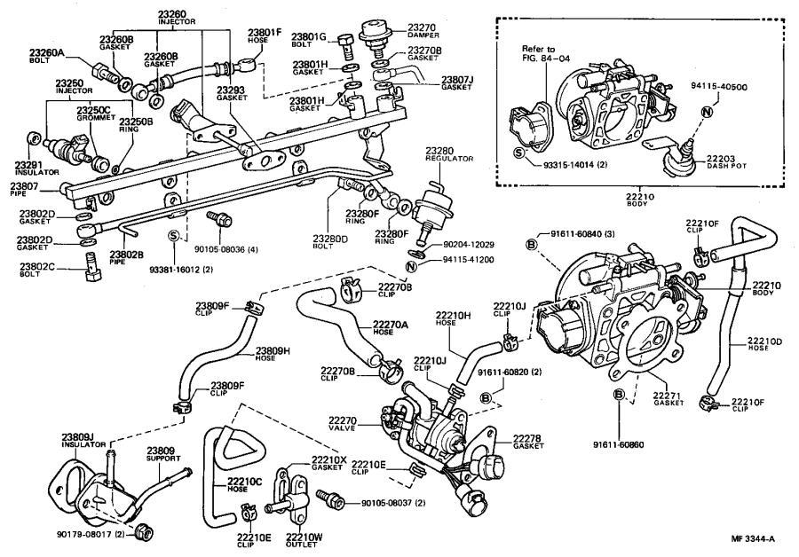 Toyota Celica Electric Fuel Pump. DENSO, SYSTEM