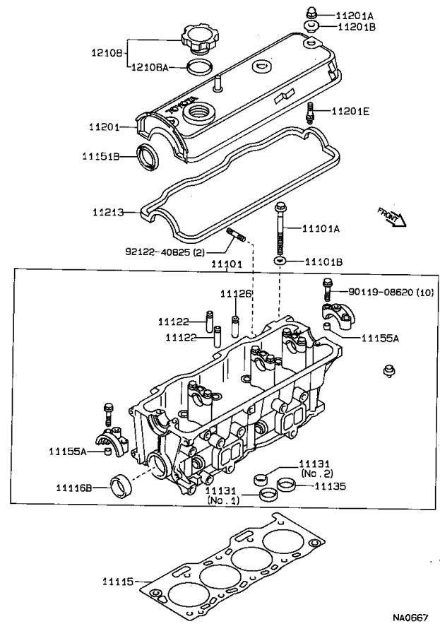 Toyota Tercel Engine Cylinder Head Gasket. STD