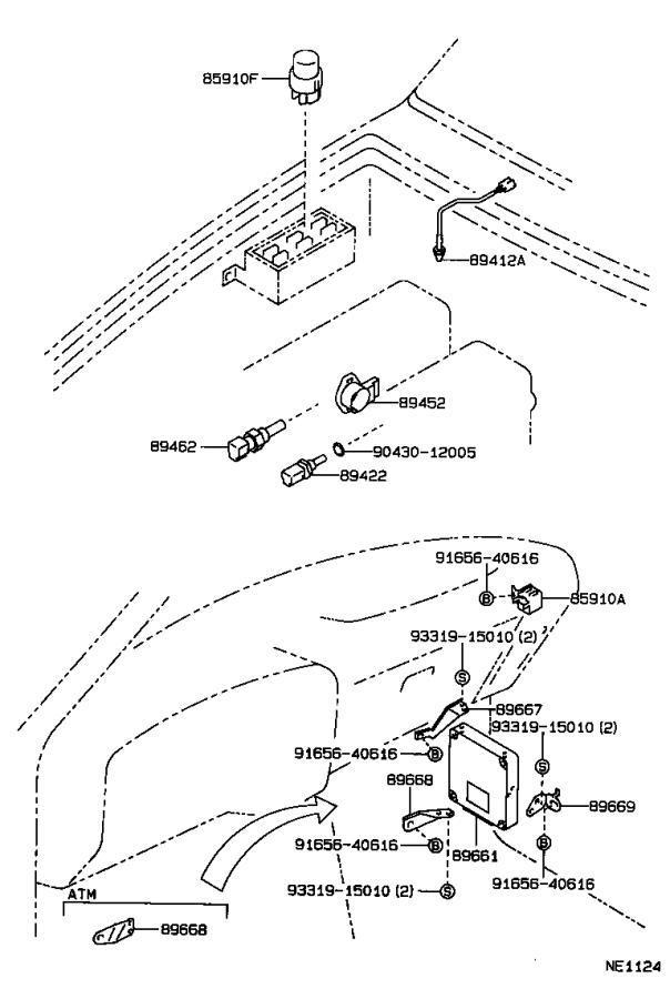 Toyota 4Runner Sensor, e.g.r gas temperature. Matsushita