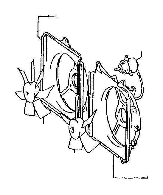 Toyota Avalon Shroud, fan, no. 2. Cooler, oil, engine