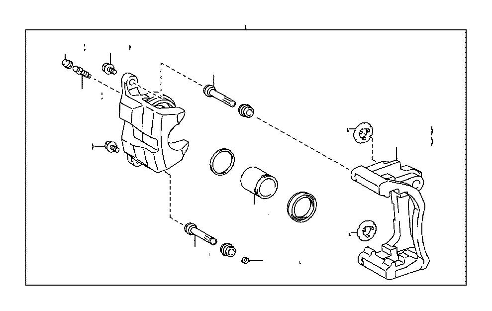 Toyota Highlander Disc Brake Caliper Pin (Rear