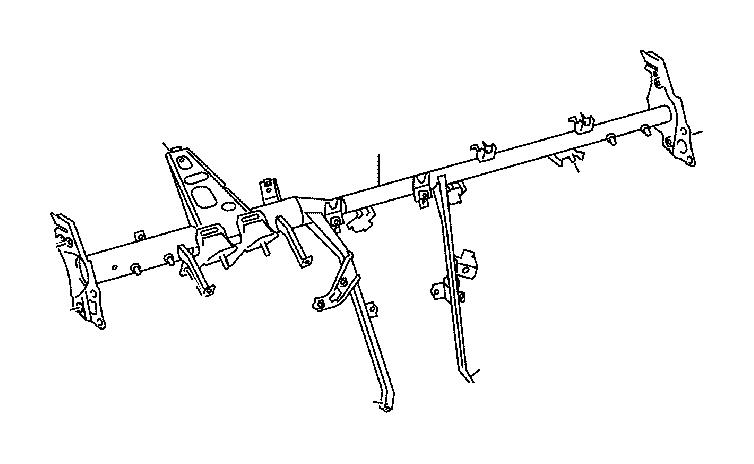 Toyota Avalon Reinforcement assembly, instrument panel
