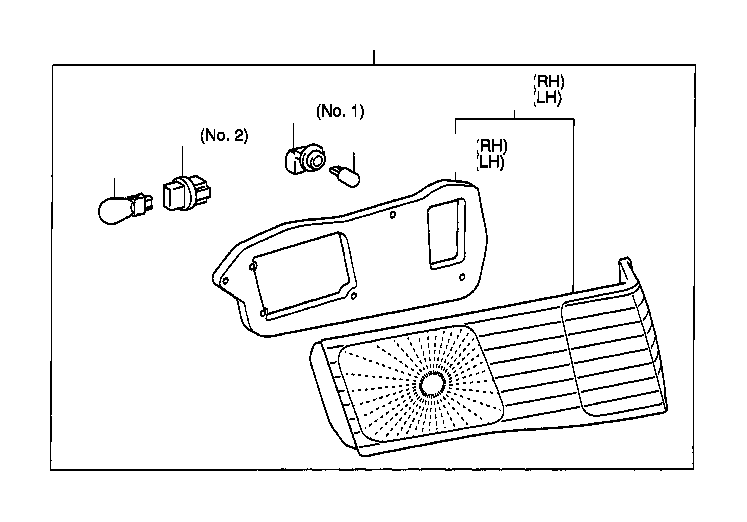 Toyota Camry Tail Light Harness. Socket and Wire, Back UP