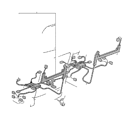 Toyota Highlander Wire, front seat, left. Engine, floor