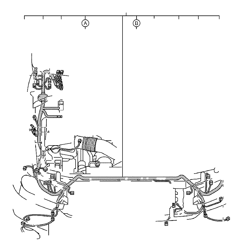 Toyota Tundra Wire, engine room, no. 3. Clamp, bracket