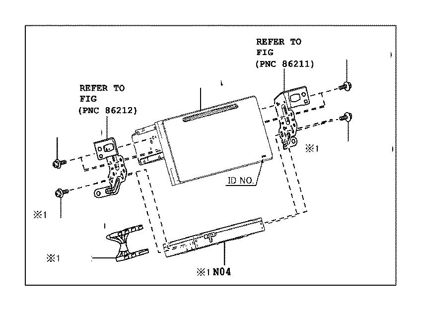 Toyota Prius Radio Control Unit. Radio Control Unit with