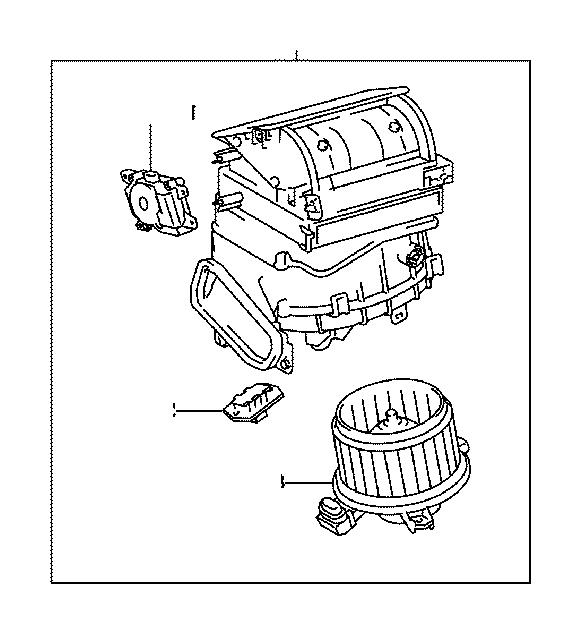 Toyota Corolla Hvac blower motor resistor (lower