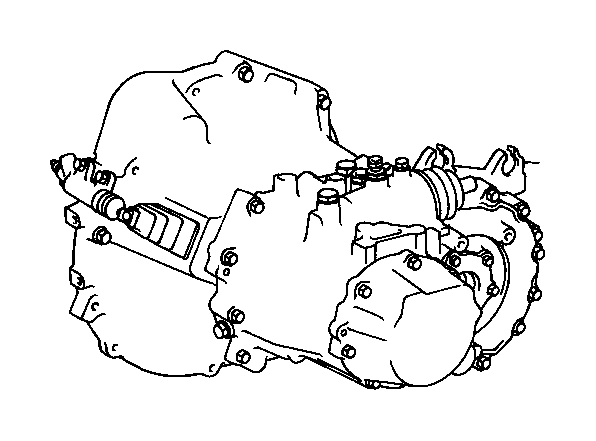 Toyota Celica Transaxle assembly, manual. Transmission