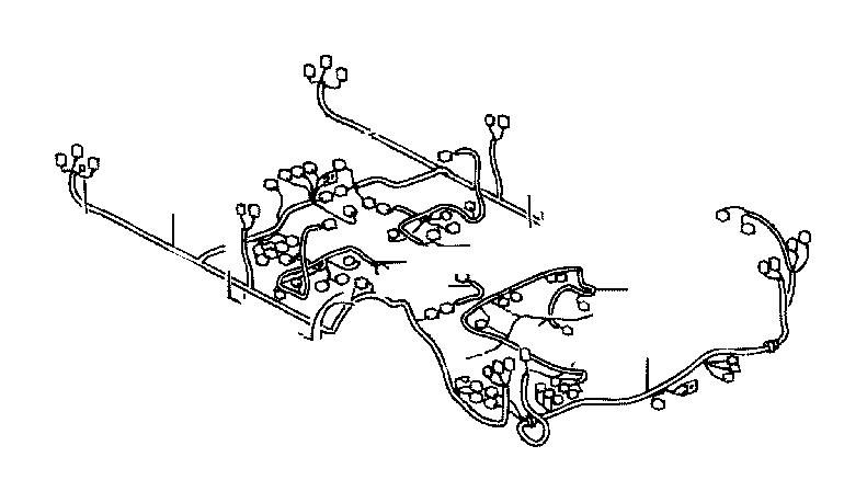 Toyota Land Cruiser Wire, floor. Electrical, door, wiring