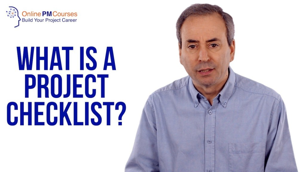 What is a Project Checklist?