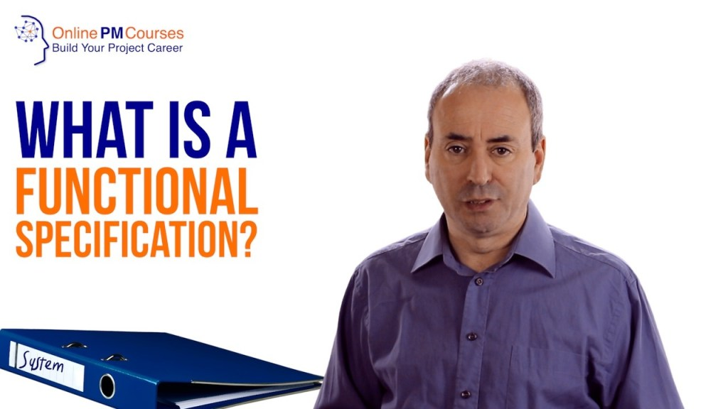 What is a Functional Specification?
