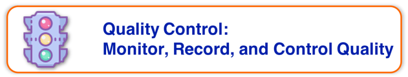 Project Quality Management - Quality Control - Monitor Record & Control Quality