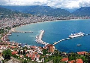 Castle and harbor of Alanya