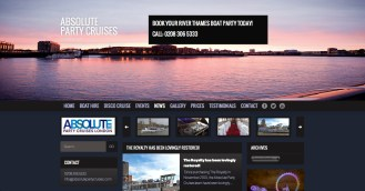 Website Design/Marketing: Absolute Party Cruises