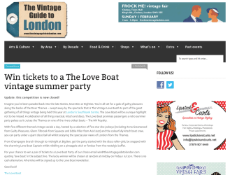 Blogger Outreach: Vintage Guide to London
