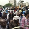AudioGram: Beggars protest in front of Governor Sanwo Olu's office, complain about ongoing harassment they face in the state.