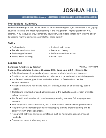 online resume template for superintendent of schools