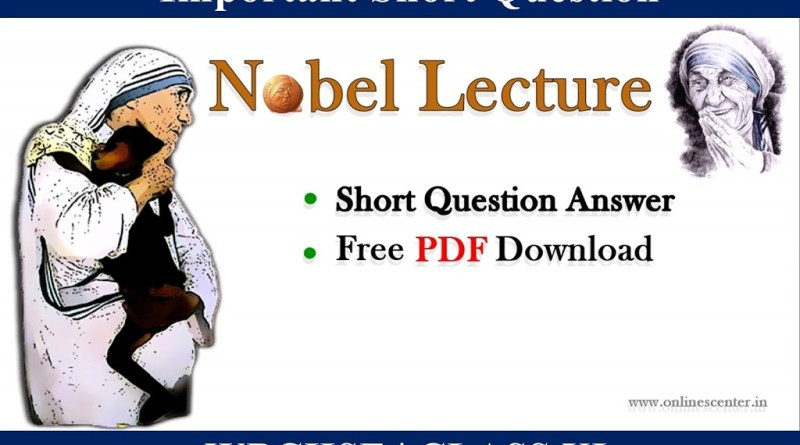Nobel-Lecture-Question-Answer