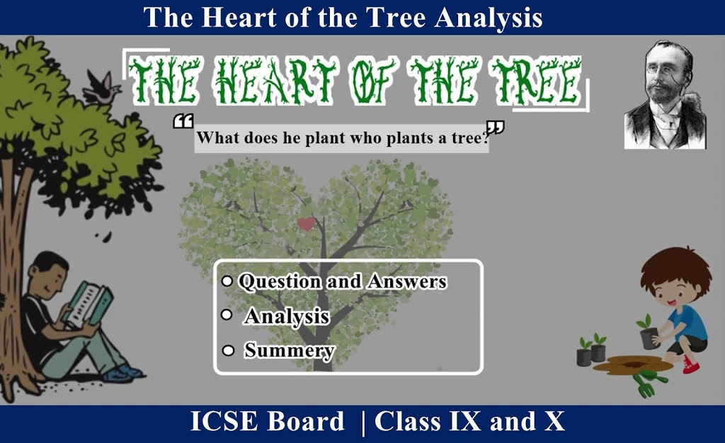 The Heart of the Tree by Henry Cuyler Bunner– Analysis | Summer | Question and Answer | ICSE Hub